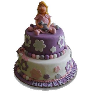 1st Birthday cake for girl London httpwwwpinkcakelandcouk