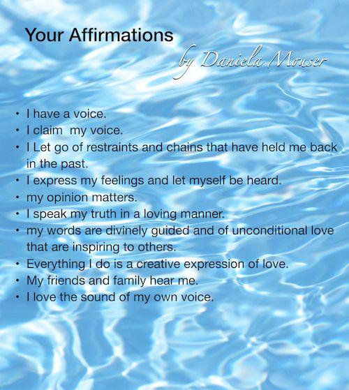Affirmations for throat chakra meditation | Chakra: Throat