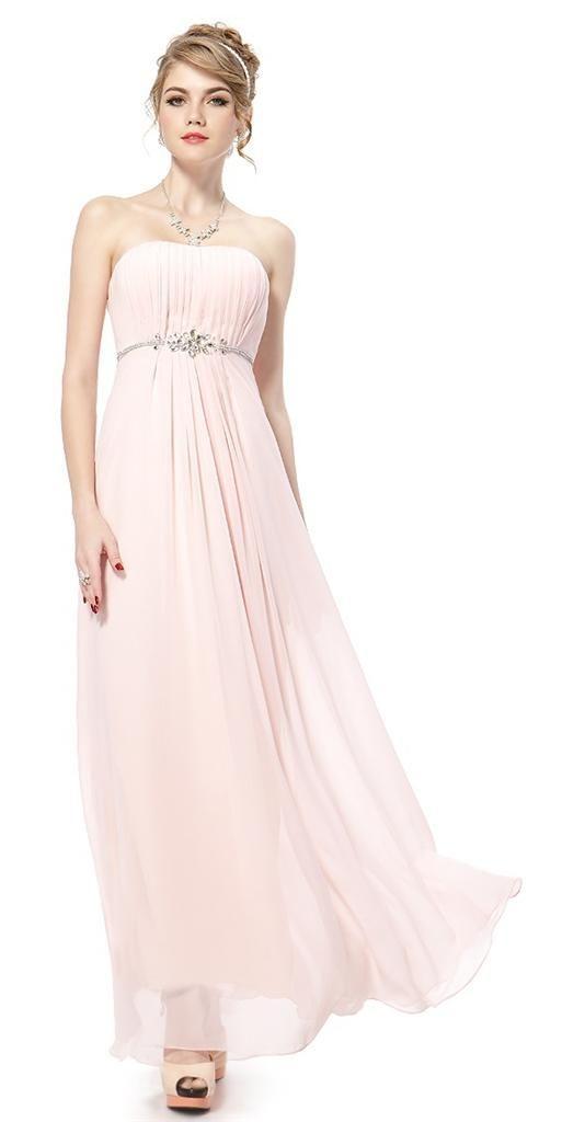 78d17829a79 JASMINE Chiffon Jewel Pink Bridesmaid Prom Wedding Dress -  www.eloises-secret-closet.co.uk