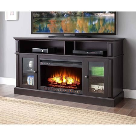 barston laminated wood fireplace for tvs up to 70 espresso rh pinterest com