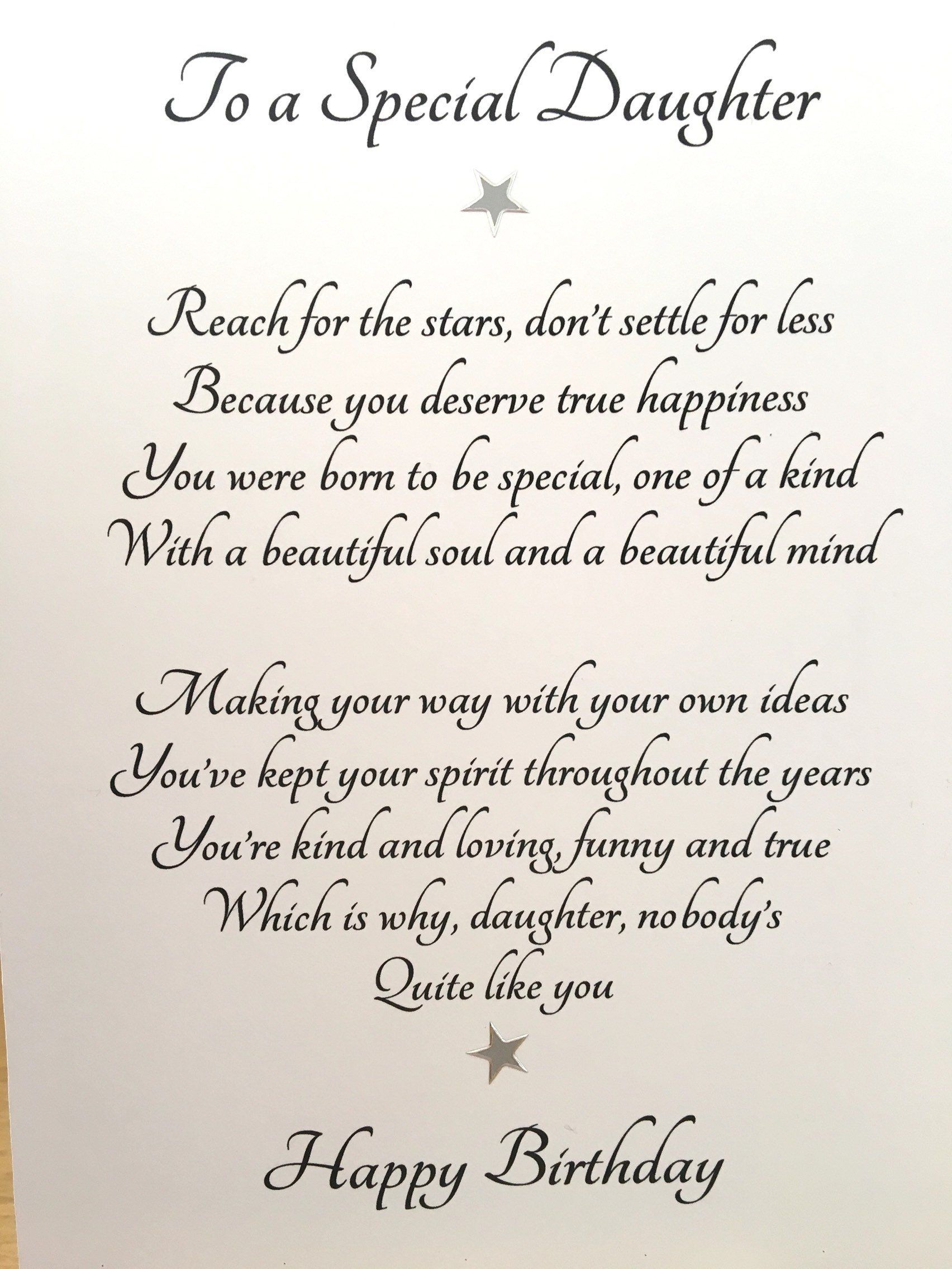 Card for adult daughter, special daughter's birthday