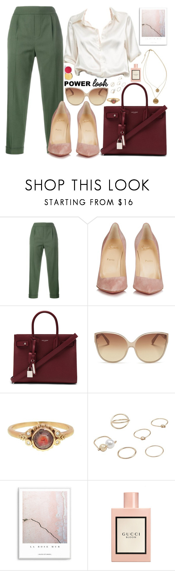 Those shoes by carolsposito on Polyvore featuring moda, Vince, Christian Louboutin, Yves Saint Laurent, Megan Thorne, MANGO, Linda Farrow, Gucci, AERIN and Brandy Melville