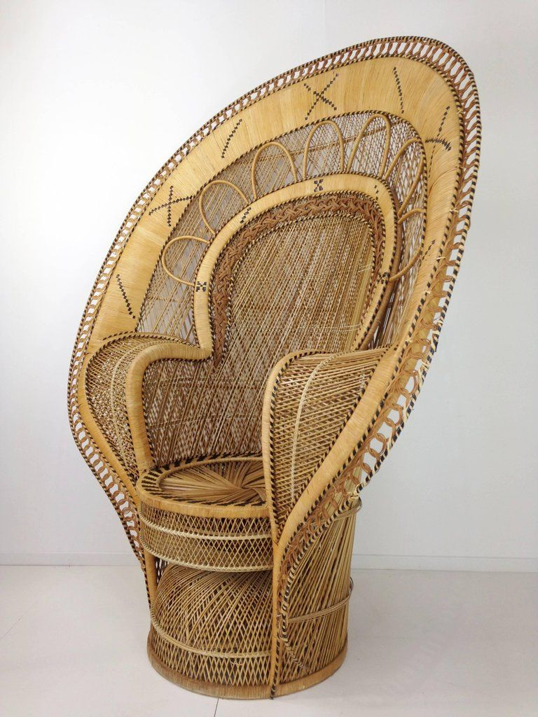 French Design Emmanuelle Extra Large Wicker Armchair from