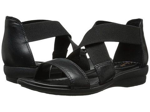 Womens Sandals Clarks Reid Solana Black Leather