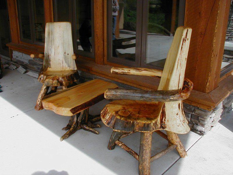 Rustic Log Furniture Plans