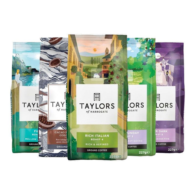 Taylors of Harrogate After Dark Ground Coffee 227 g Pack of 6