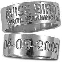 Duck Band Wedding Rings
