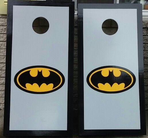 Batman cornhole boards #MotorCityCornhole #cornholeboards