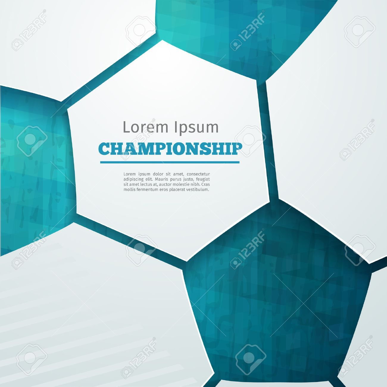 Football Abstract Geometric Background With Polygons Soccer Label