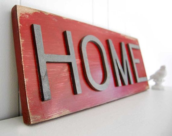 Metal Home Sign Decor Good Idea For A Diy Project For A Living Room Piece Red And Black