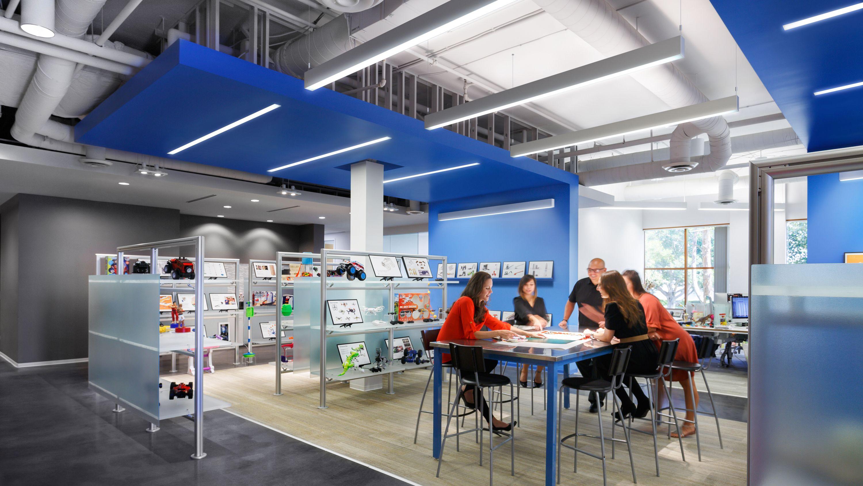 Bionic P Series Prudential Ltg Has Won Nine Ies Progress Report Awards Over The Past Couple Corporate Interior Design Corporate Interiors Corporate Design
