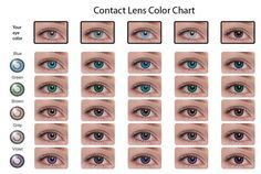 Contacts Color Chart This Shows U What Would Look Like With Ur Original Eye
