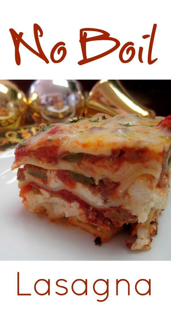 no boil lasagna recipe cottage cheese ricotta and noodle rh pinterest com