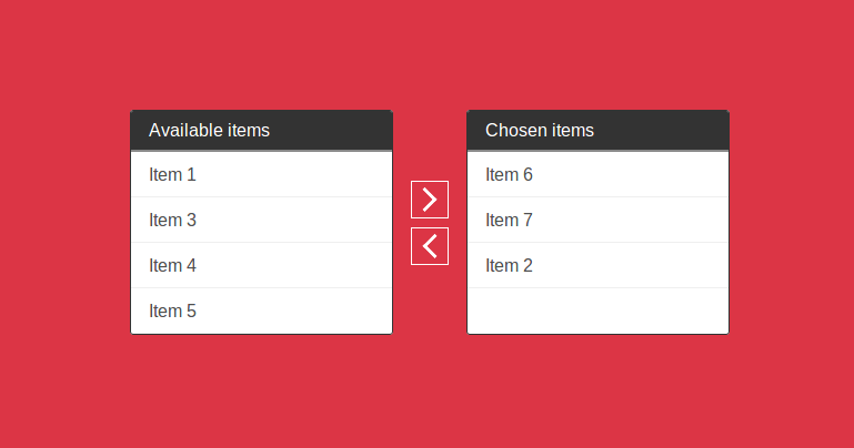 How to move one list data to another list using jQuery in
