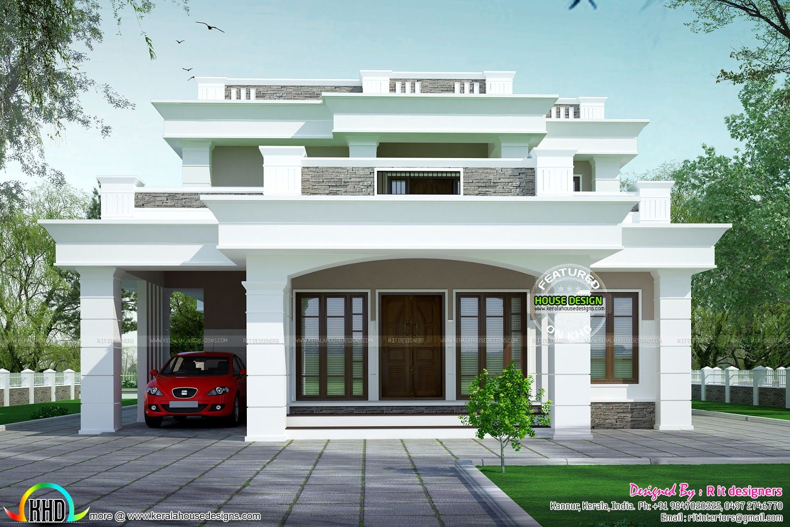 home design websites flat roof bedroom kerala single designs storey rh pinterest com