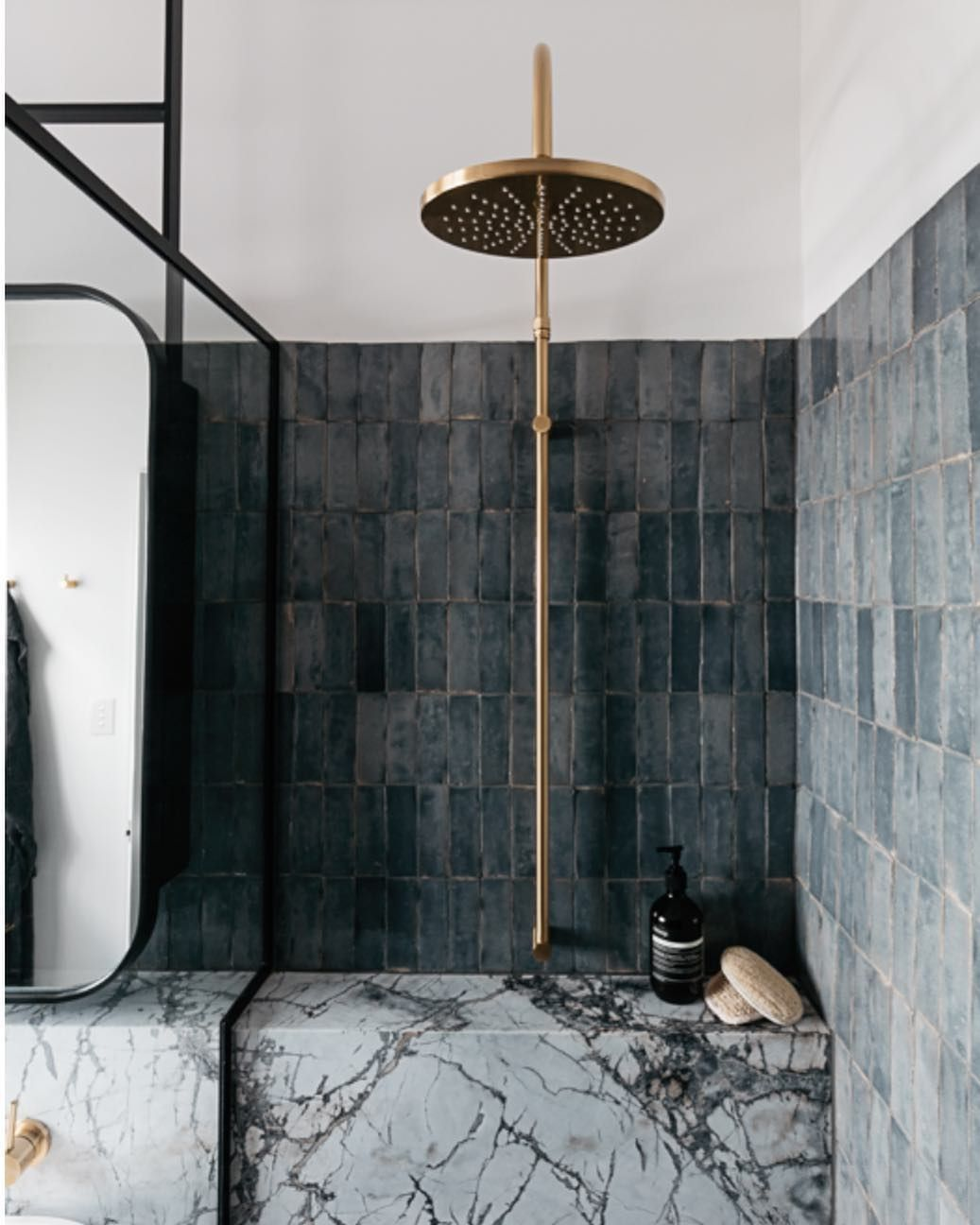 interesting bathroom light fixtures%0A Charcoal walls and metallic shower fixtures  u   d amazing