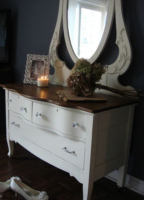 the newest of old estelle i like the dark wood top and painted rh pinterest at