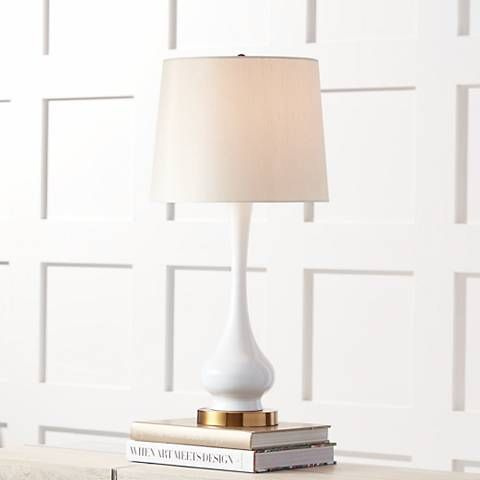 Lula white and brass gourd table lamp find this pin and more on gift guide by lampsplus