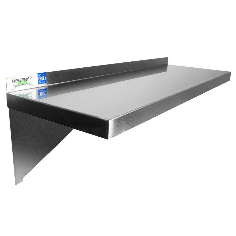 Regency 16 Gauge Stainless Steel 12 X 48 Heavy Duty Solid Wall Shelf Stainless Steel Wall Rack Stainless Steel Shelving Steel Restaurant