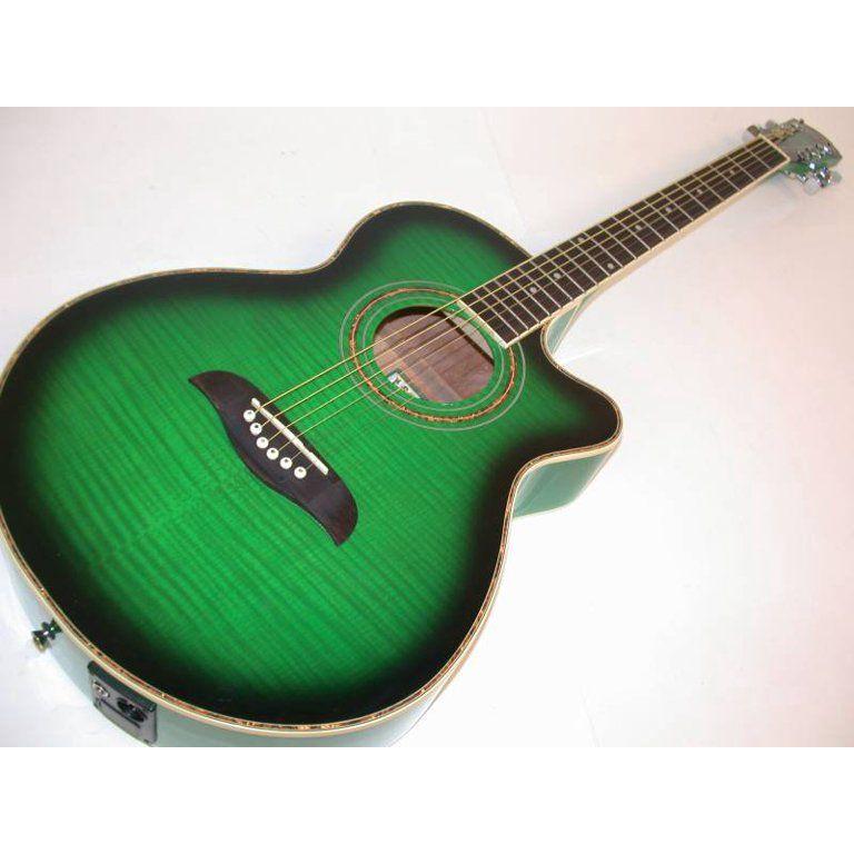 Oscar Schmidt Concert Acoustic Electric Guitar Wt92 Preamp Green Og10ceftgr Walmart Com Acoustic Electric Guitar Guitar Acoustic Electric
