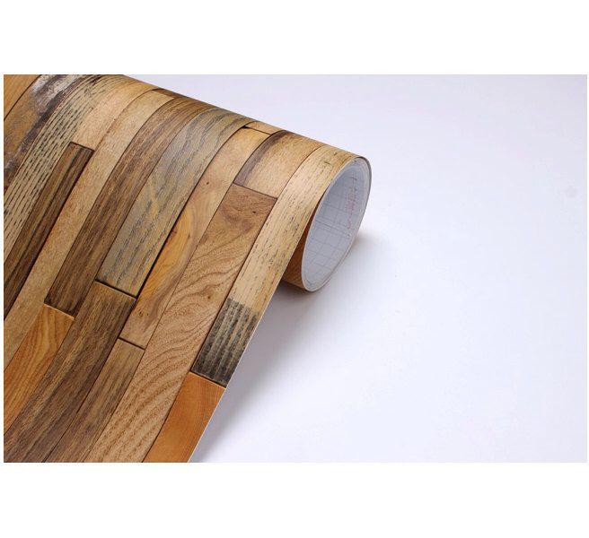 Wood Panel Vinyl Self Adhesive Peel Stick Wallpaper No505 By Verryberrysticker On Etsy
