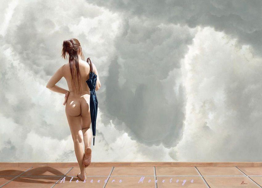 Mujer con la espalda desnuda sentada en el campo
