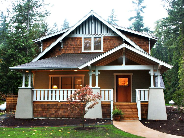 20 Beautiful Examples of The Craftsmen Bungalow Style Home #craftsmanstylehomes