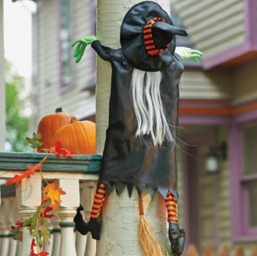 TREE CRASHING WITCH Outdoor Halloween Decoration Prop NEW