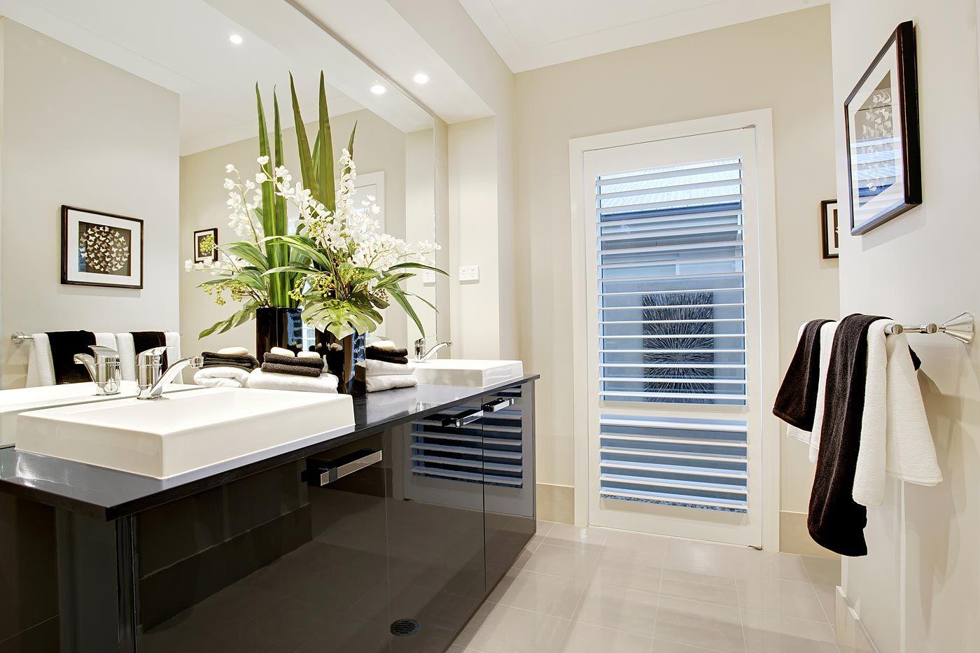 Portland - Images   McDonald Jones Homes Black white ensuite ...