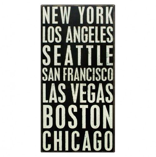 Box Sign - New York, Boston