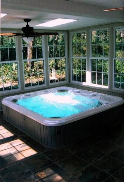 Sunroom With Pool Google Search Jacuzzi In 2019 Hot