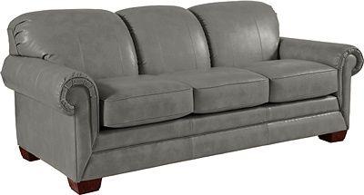 mackenzie sofa by la z boy in silver leather home decor coastal rh pinterest ca