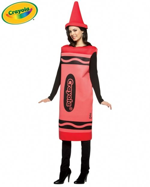 Crayola Crayon Adult Halloween Costume - This is an officially licensed 2 piece Crayola Crayon adult Halloween costume. The costume includes a one piece poly-foam sleeveless tunic. The front of the tunic features Crayola crayon's signature black stripes on the top and bottom, as well as the Crayola logo front and center, and the crayon color name down the side of the tunic. #crayola #yyc #costume