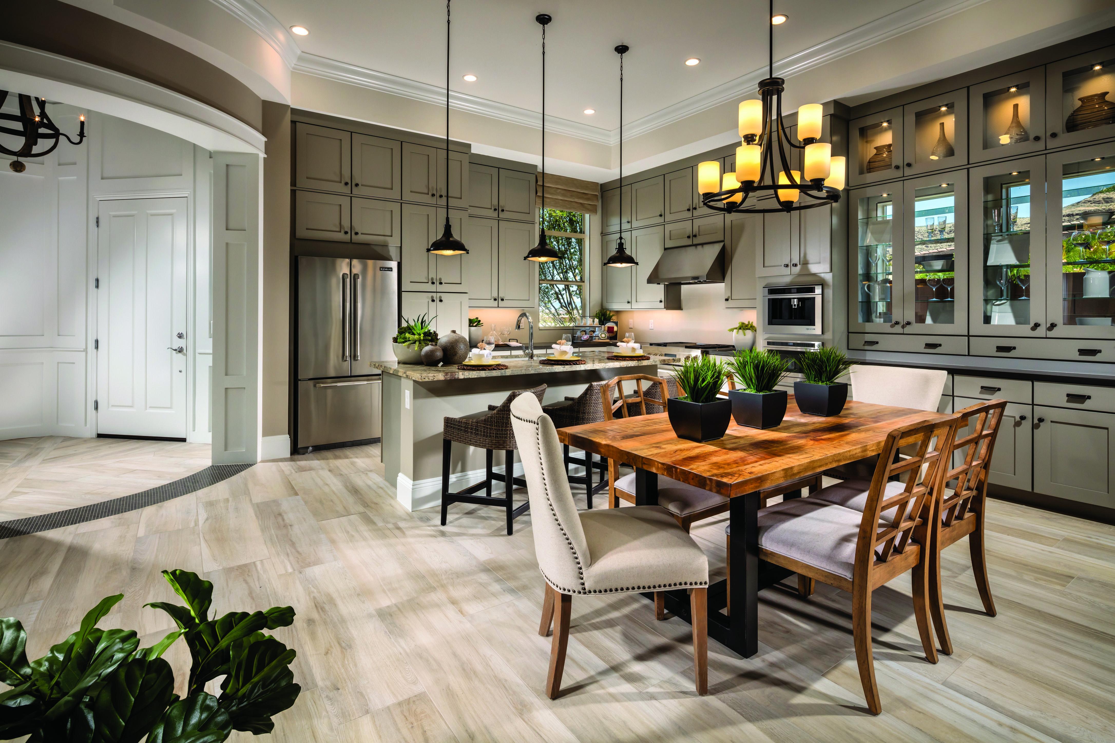 Room Elegant flooring and exquisite lighting are