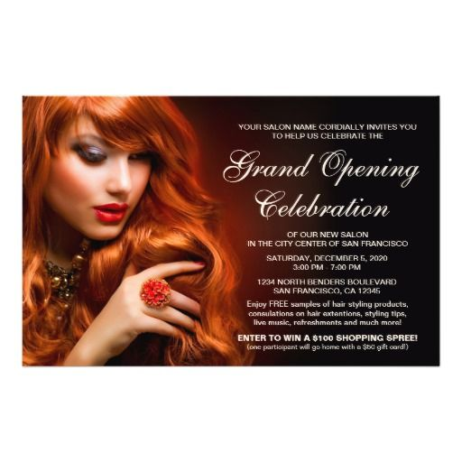 Salon Grand Opening Flyer Template  Spa And Salon Flyers