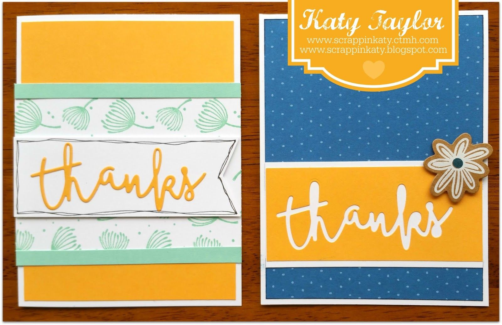 fundamental thanks  ctmh cards heart cards thank you