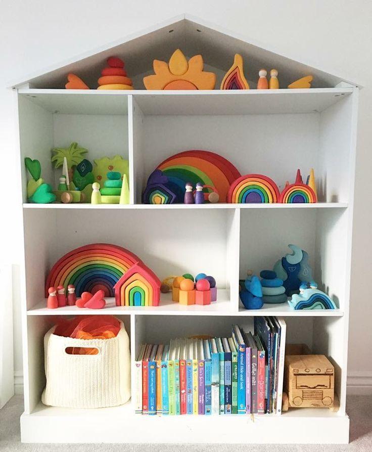 Beautiful Little Dollhouse Storage Idea Toy Rooms Kids Playroom Nursery Decor Inspiration