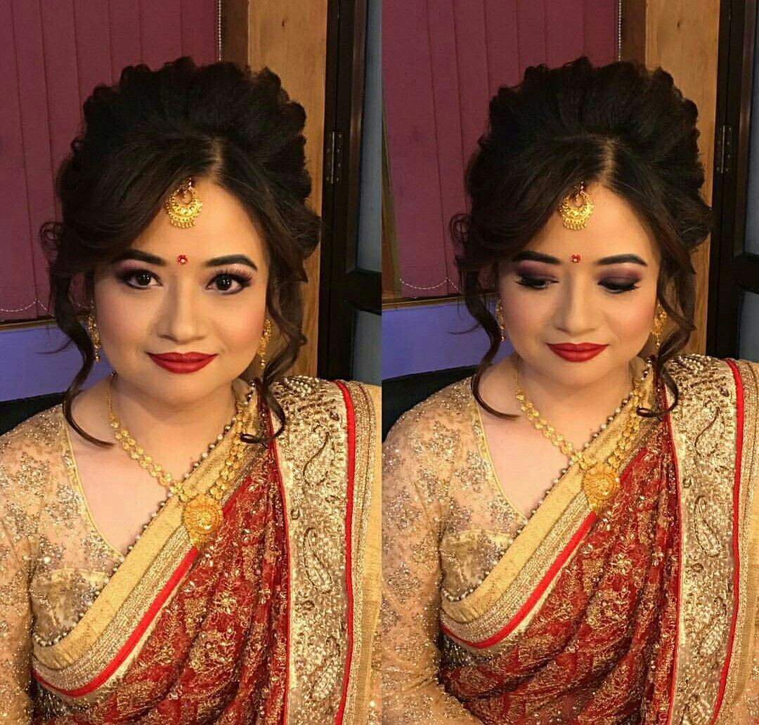 Nepali Wedding Tradition Nepal Marriage Bride Makeup Simple Saree Dress Bridal Hair Bridal Photography Bridal Wear