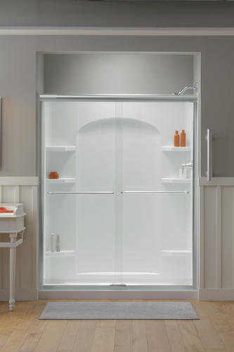 Sterling Ensemble 60 X 30 White Shower With Nickel Door And
