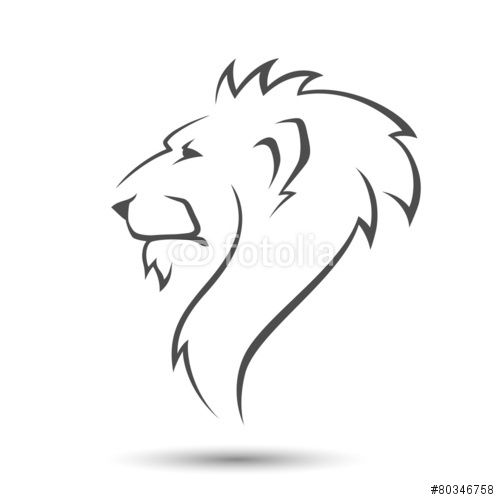 Lion Head Stock Image And Royalty Free Vector Files On Fotolia Com Pic 80346758 Lion Head Tattoos Simple Lion Tattoo Lion Sketch Outline of a lion tattoo fabulous black outline leo sign lion tattoo. pinterest