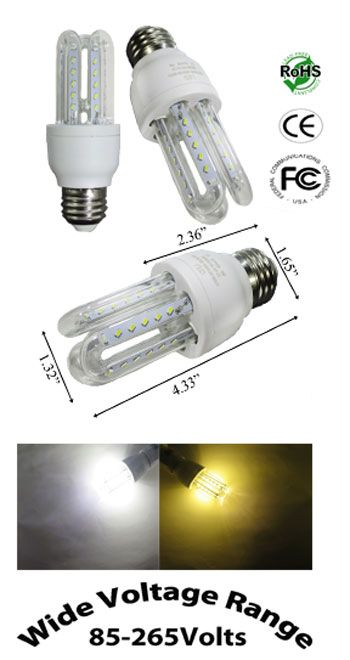 Bulb Led 3 Watt Cfl Style 86 265 Vac E27 Bulb Led Household