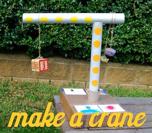 how to build a crane for a school project