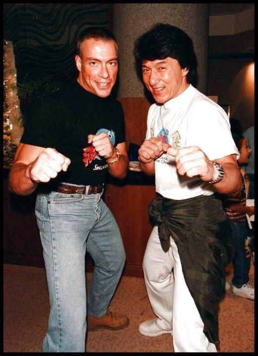 Jean Claude Van Damme and Chuck Norris training together