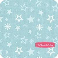 A Merry Little Christmas Aqua Stars Yardage SKU