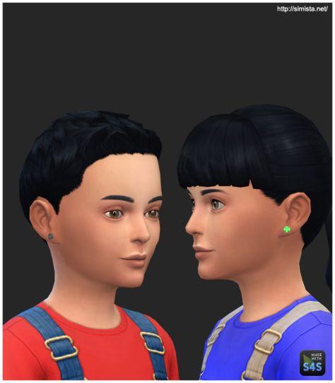 kids earrings 01 | Sims 4 children, Sims 4 cc kids clothing