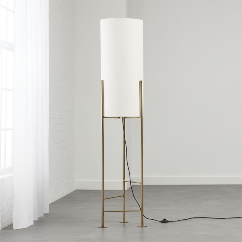 Shop Haus White Floor Lamp Inspired By Rooftop Water Tanks In