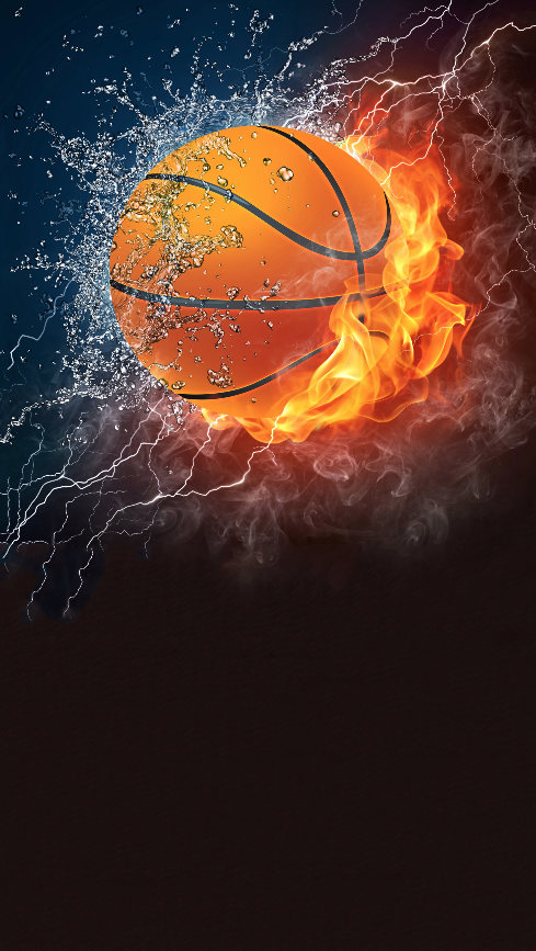 Printed Background Fire Basketball Backdrop 398 Art Background Basketball Background Wallpaper Backgrounds