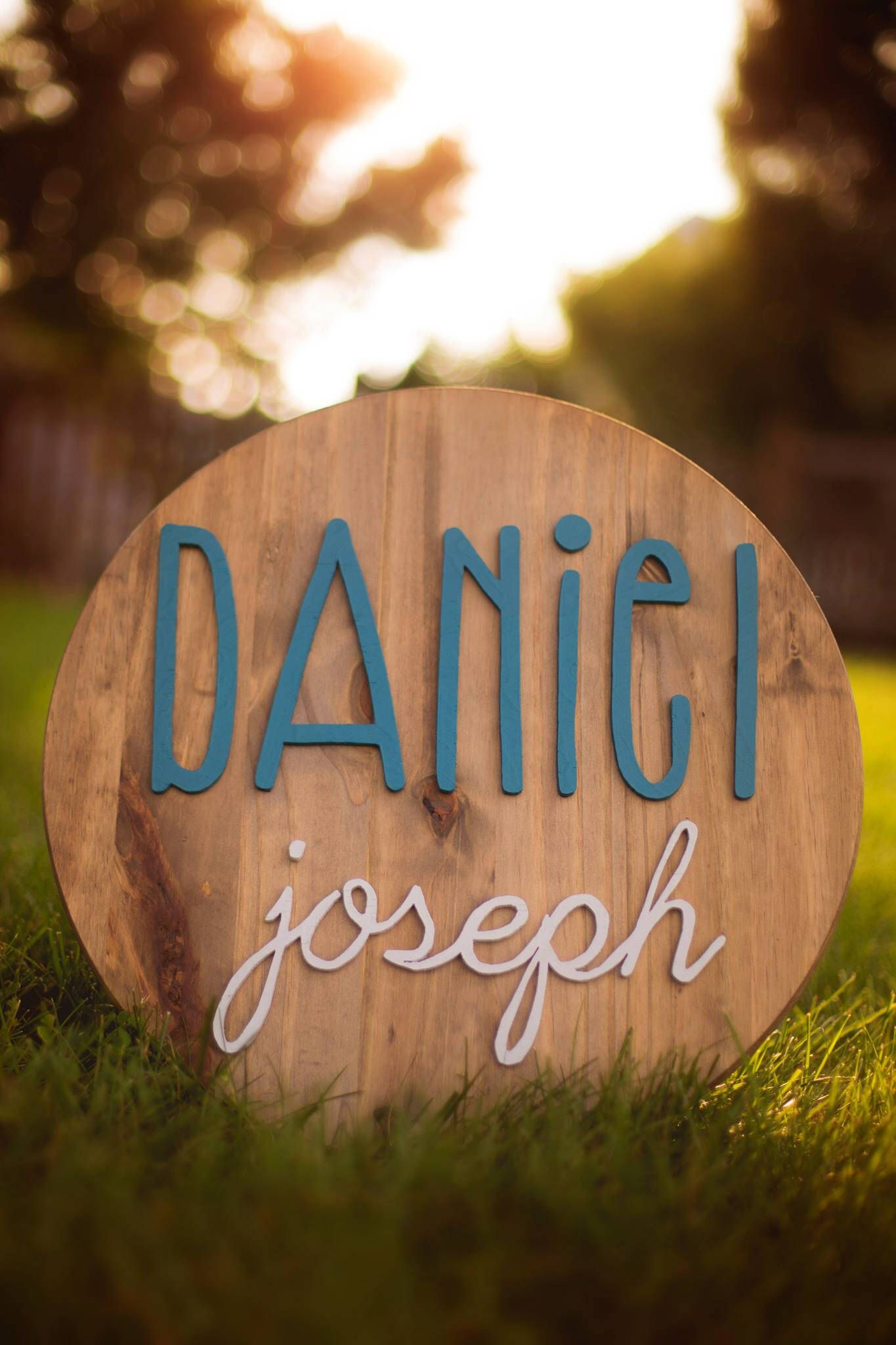 Round Name Sign, Nursery Name Sign, Above The Crib Sign,