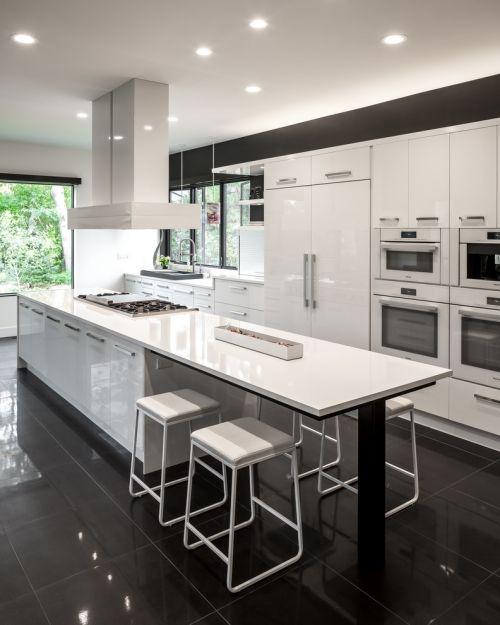 Kitchen Impossible Idee: Idées Pour Cuisine Blanc Et Noir Design
