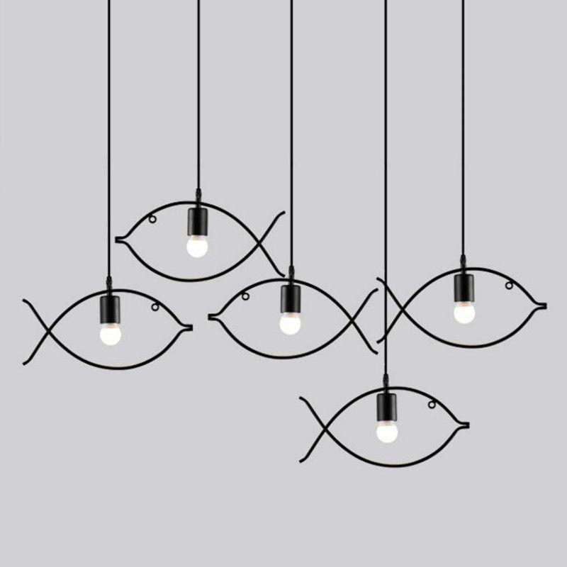 warehouse style lighting. Retro Pendant Light Indoor Lighting Vintage LED Lights Metal Iron Fish Lampshade Warehouse Style Fixture E
